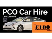 HIRE A PCO CAR/ UBER READY / CHEAPEST RENT FROM £90/MINICAB PRIUS MERCEDES GALAXY