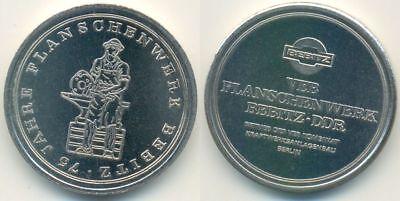 DDR Medaille, Bernburg - Bebitz VEB Flanschenwerk 75 Jahre, Amboss Schmied