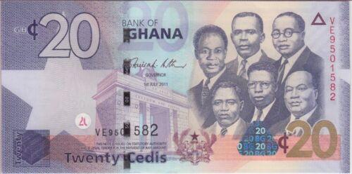 GHANA BANKNOTE P40c 20 CEDIS 1.5.2011 UNCIRCULATED USA SELLER