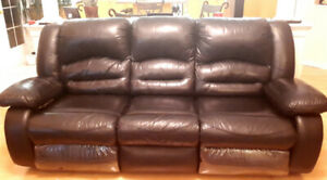 Love seat and sofa 3 seater leather recliners