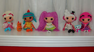 Lalaloopsy Dolls lot of 5 plus 2 Pets
