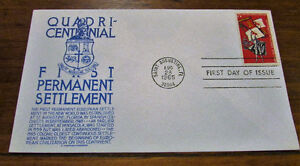 1965 QuadriCentennial First Permanent Settlement First Day Cover Kitchener / Waterloo Kitchener Area image 1