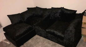 Crushed corner sofa (delivery available