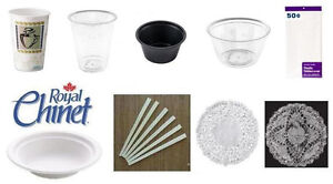 RESTAURANT/CATERING ITEMS - Chinet Paper Bowls, Doilies, Cups