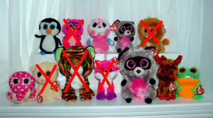 Ty Beanie Boos.  ( Will Sell Separately )