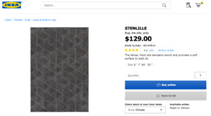 4 Month Old IKEA Stenlile Rug -  AS NEW Condition