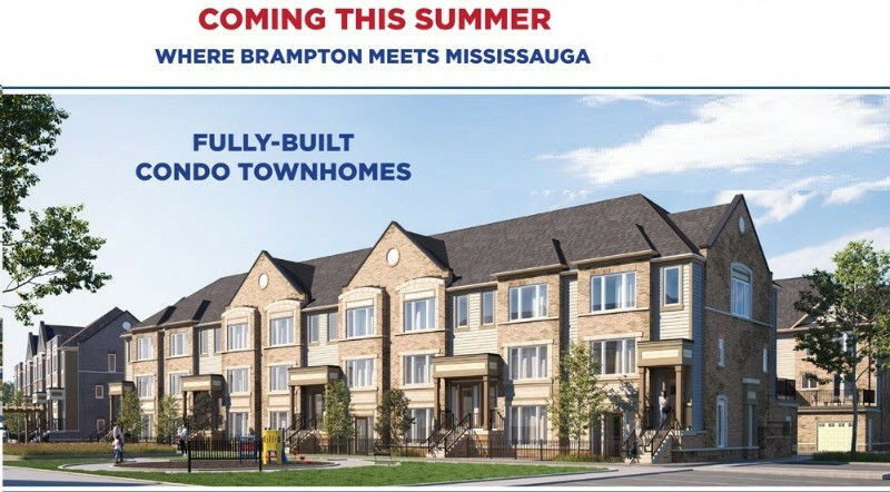 brand new townhouse from builder in brampton only 5 down canadian