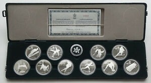 1988 CANADA OLYMPIC STERLING SILVER SET