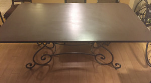 $350 OBO  Heavy wrought iron dinning table
