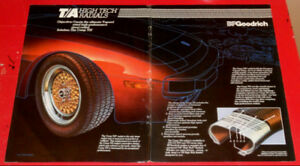 1983 BF GOODRICH T/A TIRES AD WITH PORSCHE 944 - ANONCE 80S