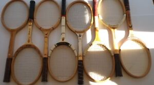 VINTAGE WOOD TENNIS RACKETS FOR COLLECTORS - 1960 TO 1985