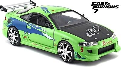 JADA 97603 - 1/24 SCALE BRIANS MITSUBISHI ECLIPSE FAST AND FURIOUS DIECAST