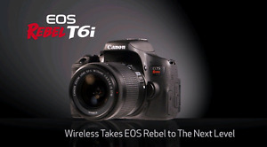 BRAND NEW Canon EOS T6i With  EF-S 18-135mm f/3.5-5.6 IS STM LEN