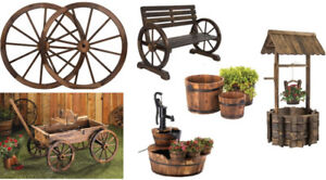 NEW GARDEN DECOR WOODEN GARDEN DECORATIONS LAWN ORNAMENTS