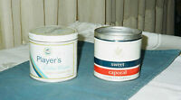 SWEET CAPORAL AND PLAYER'S EXTRA LITE TINS