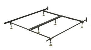 Deluxe Metal Bed Frame - Queen / Black / Metal - $25.00