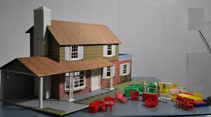 Antique Metal 2 Storey Doll House