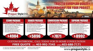 PRAGUE STYLE Inc.-THE  BATHROOM REMODELING COMPANY