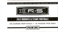 2013 Panini Football Rookies and Stars Rack Pack Box (480 cards)
