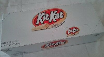 Kit Kat White Chocolate Snack Candy Bar 24 /1.5oz,Crisp Wafers' n Creme,Hershey