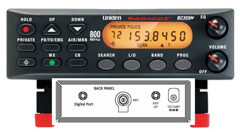 NEW UNIDEN DIGITAL READY BC355N 800MHz 300 CHANNEL BASE
