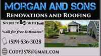 Morgan and Sons Renovations and Roofing