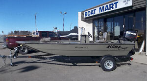 CLEAROUT Alumacraft MV1756 AW CC with Evinrude ETEC 60 Hp Jet