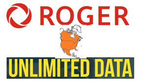 ROGERS UNLIMITED DATA CANADA/USA/MEXICO $55/MTH 647-473-4982