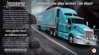 Rosenau Tsp. Red Deer – Class 1 & 5Q drivers, P&D and HWY Requir