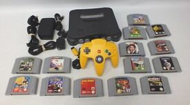 NINTENDO N64 CONSOLE AND GAMED BUNDLE