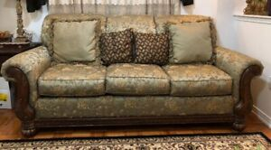 Matching  Sofa and Chaise Longue (Green) - Excellent Condition