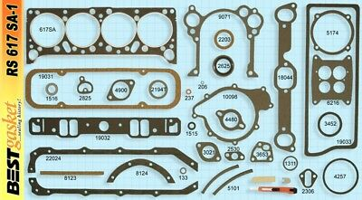 Pontiac Tempest 195 Full Engine Gasket Set/Kit BEST Head+Intake+Oil Pan 1961-63