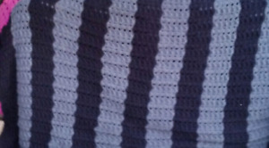 King size hand knitted afghan