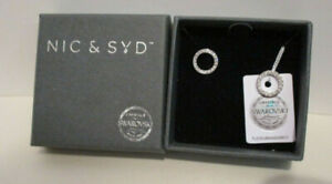 NIC & SYD SWAROVSKI CRYSTAL 1/2` CIRCLE POST EARRINGS