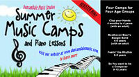 Summer Music Camps and Individual Piano Lessons