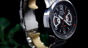Accurist Men Chronograph wristwatch (Heuer Carrera homage)