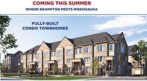 Townhouse from Builder in Brampton North with 5% DownStarting M