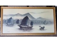 Oil painting Hong Kong Harbour