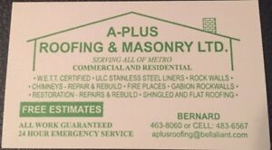 Professional, Reliable (Roofing and Masonry)