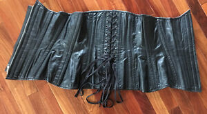 MULTI-USE/PURPOSE GENUINE SOFT BLK LEATHER CORSET BY NORTHBOUND West Island Greater Montréal image 4