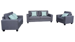 FACTORY DIRECT SOFA SET WITH PILLOWS