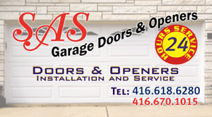 SAS 24/7 Garage Door Services in Caledon (416-618-6280)