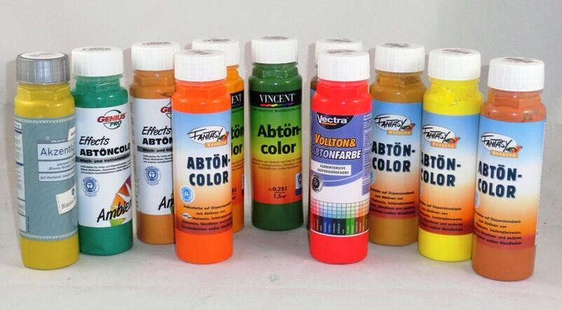 5,96€/L  Abtönfarbe Vollton 250 ml viele Marken & Farben 0,25l Wand innen
