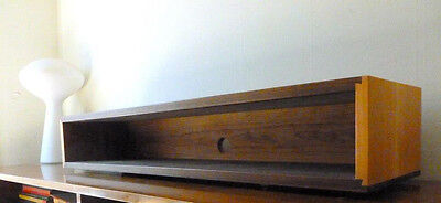 Simple Elegant Walnut & Cherry Dovetail Floating Shelf Console Mid Century style