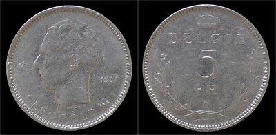 Leopold III 5 frank 1936 VL- pos A