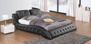 Fully Italian Leather bed Collection modern classic King or Queen Mandurah Mandurah Area Preview