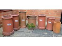 Chimney pots. Various sizes and condition. Prices as marked on photograph.