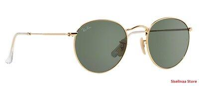 New Genuine Ray Ban 3447 001 Classic John Lennon Gold Sunglasses G-15 Lens (Ray Ban Lennon)