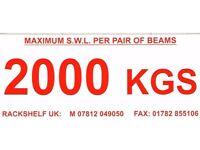 JOB LOT 100 SAFE WORK LOAD / WEIGHT LOAD BEAM STICKERS ( PALLET RACKING / SHELVING /STORAGE )