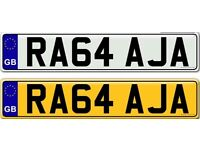 RAJAH OR RAJA - a very rare and unique private number plate for sale